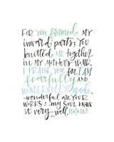 Psalm 139 Color Fine Art Print