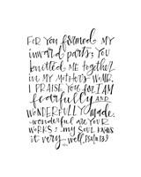 Psalm 139 Fine Art Print
