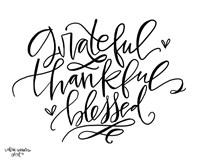 Grateful Thankful Blessed Fine Art Print
