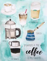 World Coffee Fine Art Print