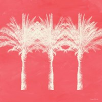 Coral and Ivory Palm Trees Fine Art Print