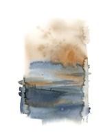 Blue & Gold Abstract II Fine Art Print