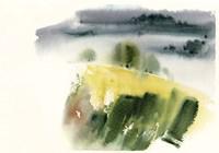 Green & Yellow Abstract Fine Art Print