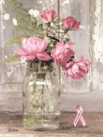 Pink Roses for Breast Cancer Awareness Fine Art Print