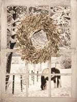 Winter Horse Window View Fine Art Print