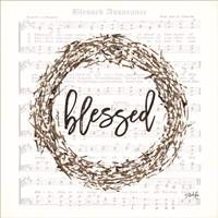 Blessed Assurance Bless Wreath Fine Art Print