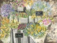 The French Flower Market Fine Art Print