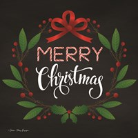 Peppermint Merry Christmas Fine Art Print