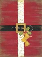Farmhouse Santa Fine Art Print