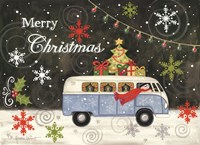 VW Christmas Bus Fine Art Print