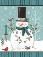 Top Hat Snowman Fine Art Print