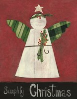 Simplify Christmas Angel Fine Art Print