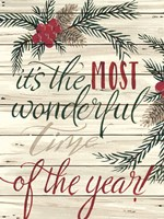 It's the Most Wonderful Time Shiplap Fine Art Print