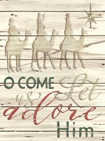 Come Let Us Adore Him Shiplap Fine Art Print