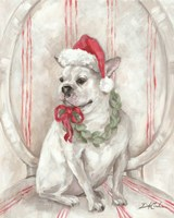 French Bulldog Santa Fine Art Print