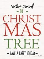 Rocking Around the Christmas Tree Fine Art Print