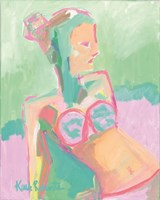 Sunbather Series:  Raspberry Sorbet Gaze Fine Art Print