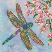 Stained Glass Dragonfly Fine Art Print