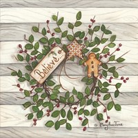 Believe Wreath Fine Art Print