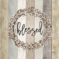 Blessed Pussy Willow Wreath Fine Art Print