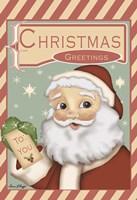 Santa Christmas Greetings Fine Art Print
