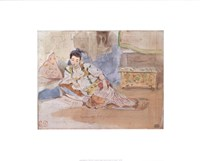 Arab Woman Seated Fine Art Print