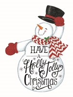 Have a Holly Jolly Christmas Snowman Fine Art Print