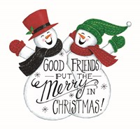Good Friends Snowman Fine Art Print