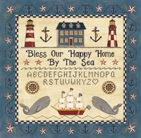 Bless our Happy Home by the Sea Sampler Fine Art Print