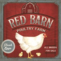 Red Barn Poultry Farm Fine Art Print