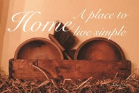 Home a Place to Live Simple Fine Art Print