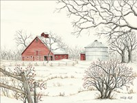 Winter Barn Fine Art Print