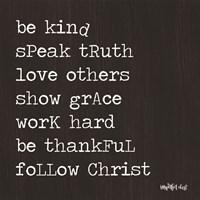 Follow Christ Fine Art Print