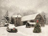 Farmhouse Christmas Fine Art Print