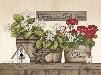 Cherish the Small Things Geraniums Fine Art Print