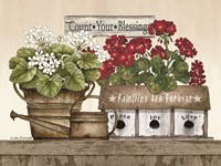 Count Your Blessings Geraniums Fine Art Print