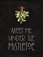 Meet Me Under the Mistletoe Fine Art Print