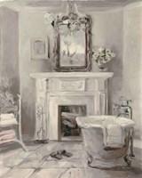 French Bath IV Gray Fine Art Print