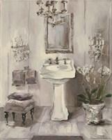 French Bath III Gray Framed Print
