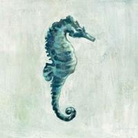Indigo Sea Life I Fine Art Print