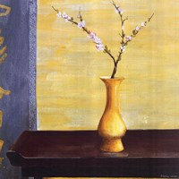 "Yellow Vase by Lebel Iberia - 20"" x 20"""