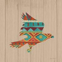 Southwestern Vibes III on Walnut Fine Art Print