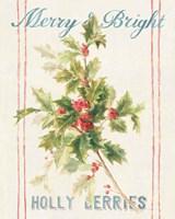 Floursack Holiday Bright I Framed Print