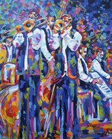 Dixieland Jazz Band Fine Art Print