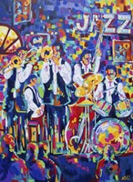 New Orleans Club Jazz Fine Art Print