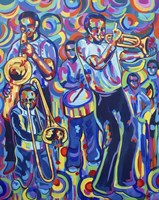 New Orleans Street Jazz Music Fine Art Print
