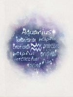 Starlight Astology Aquarius Fine Art Print