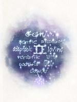 Starlight Astology Gemini Framed Print