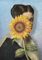 Girl with Sunflower Fine Art Print