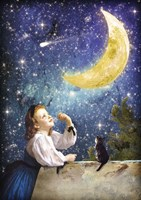 One Wish Upon the Moon Fine Art Print